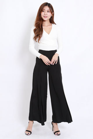 Wide Leg Flare Pants (Black)