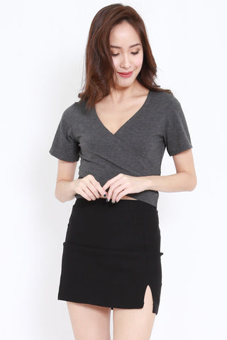 Wrap Top (Dark Grey)