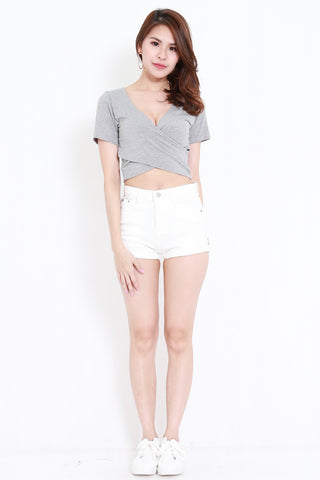 Wrap Top (Light Grey)