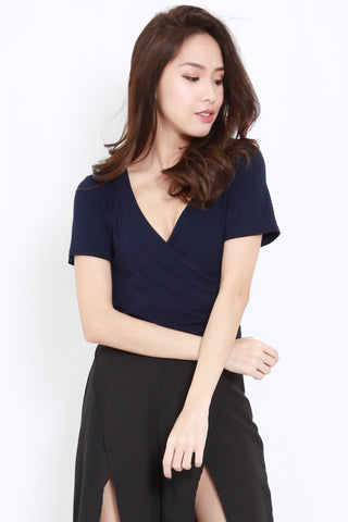 Wrap Top (Navy)