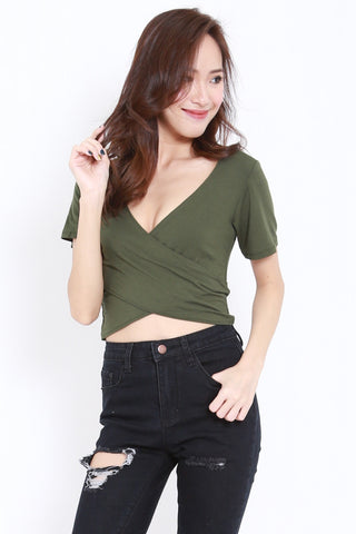 Wrap Top (Olive)