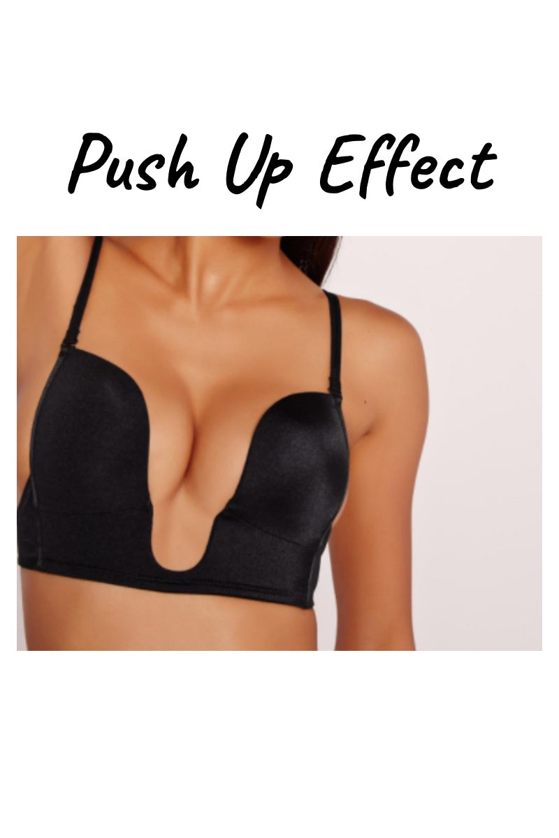 Plunge Neck U Bra (Black)