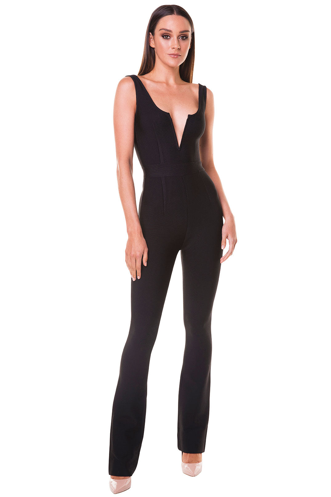 Amora V-Neck Jumpsuit [SAMPLE SALE]