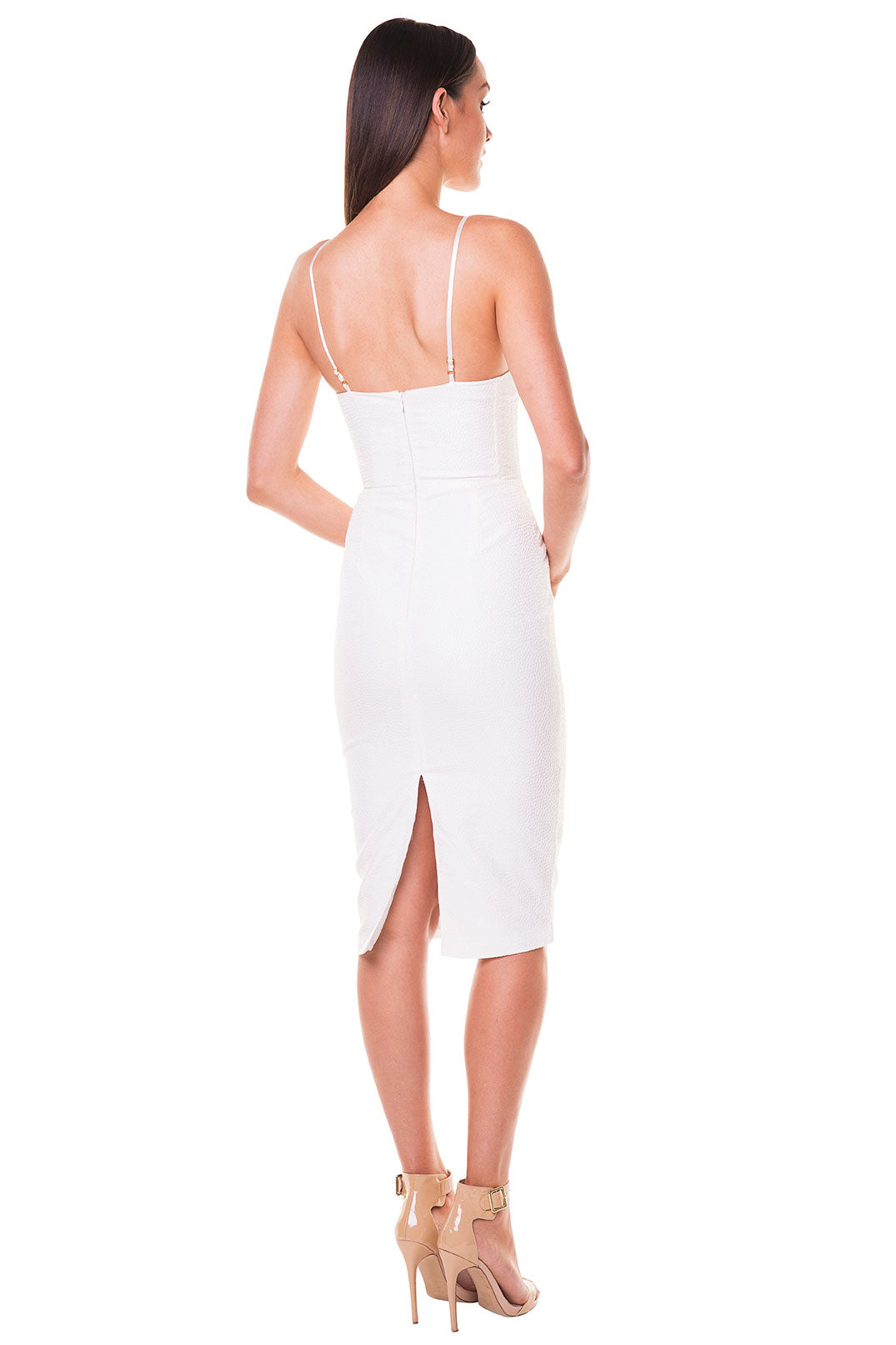 Caterina Bustier Dress - White [SAMPLE SALE]