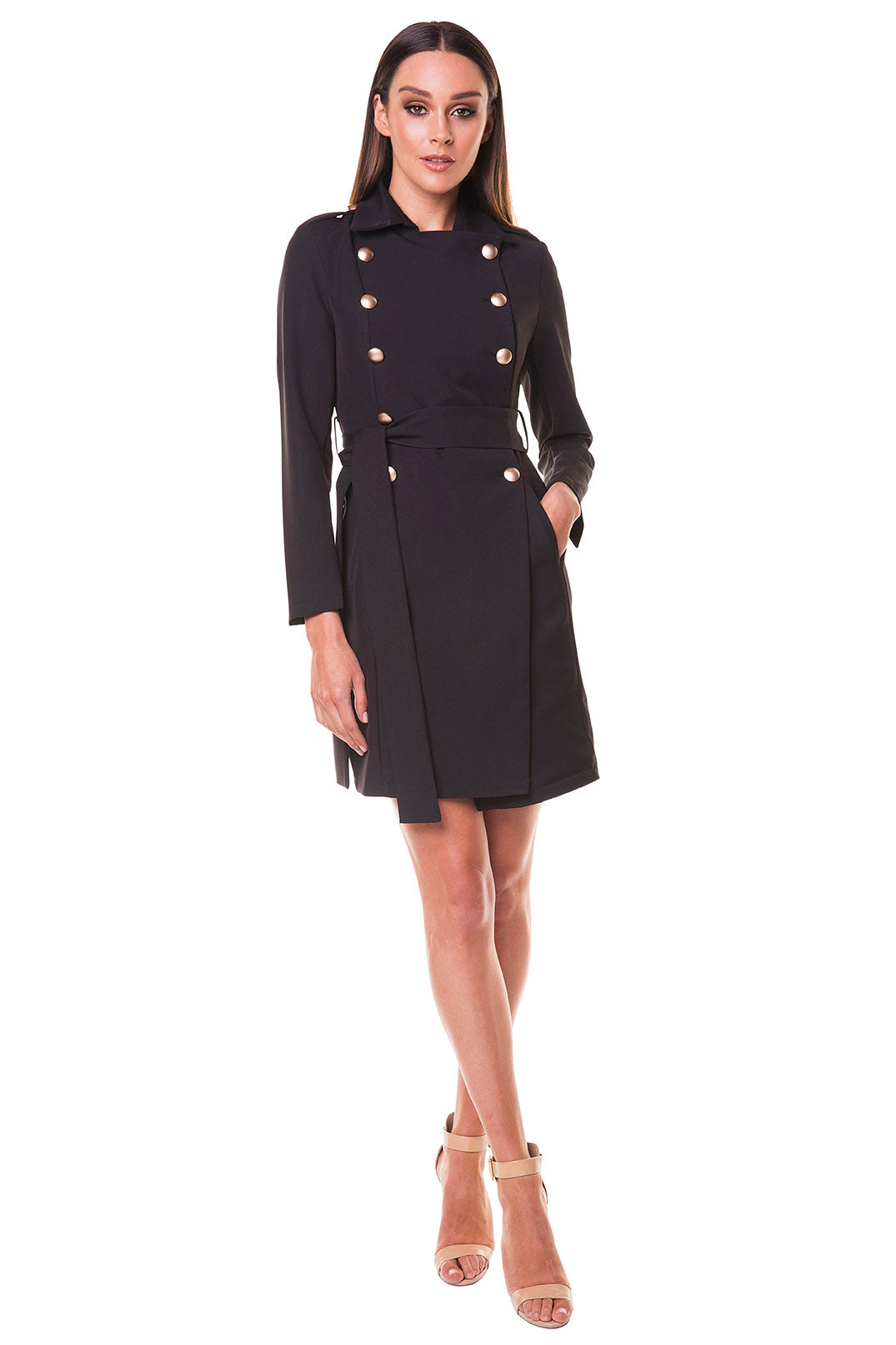 Cora Trench Coat - Black