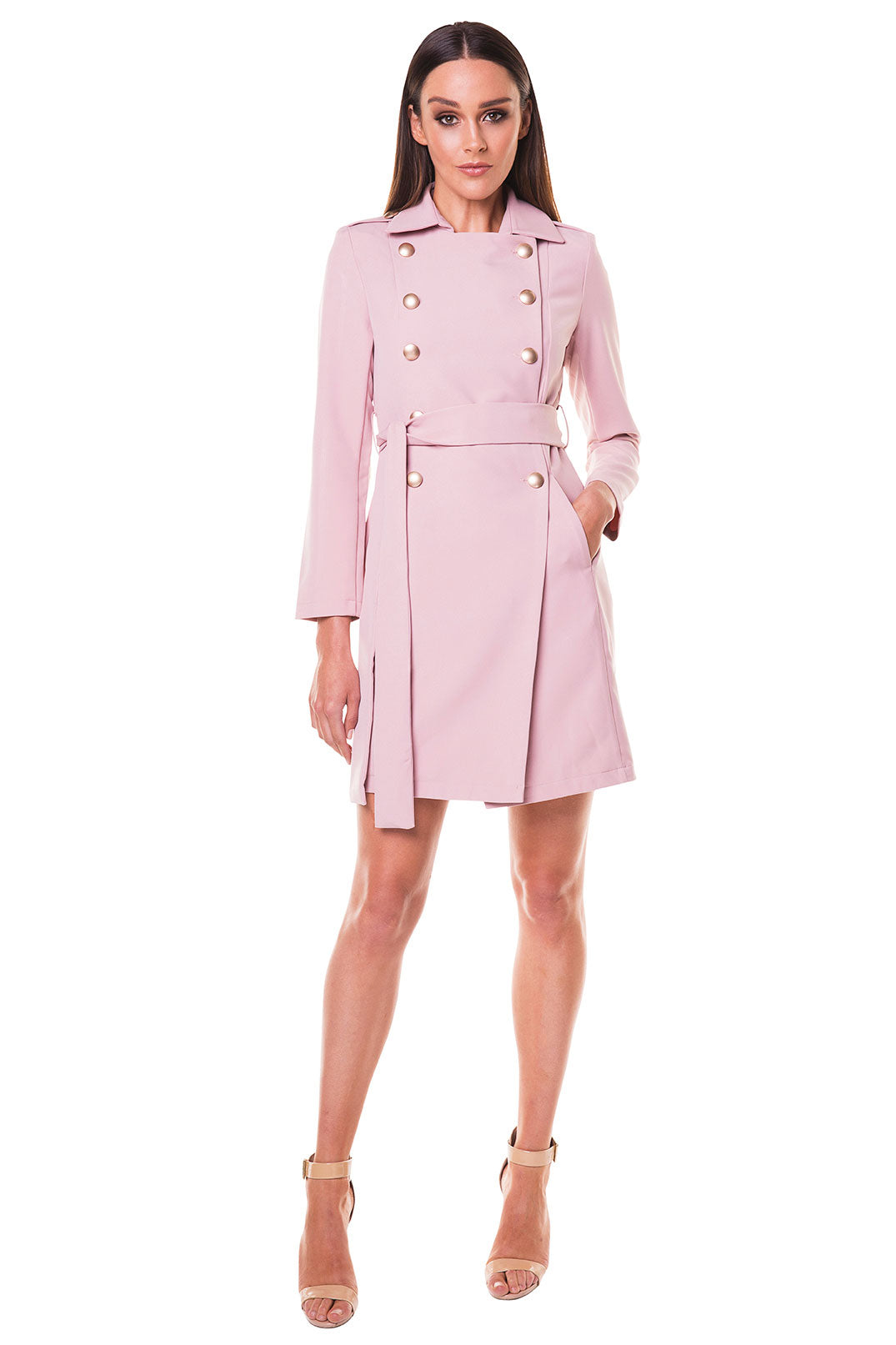 Cora Trench Coat - Blush