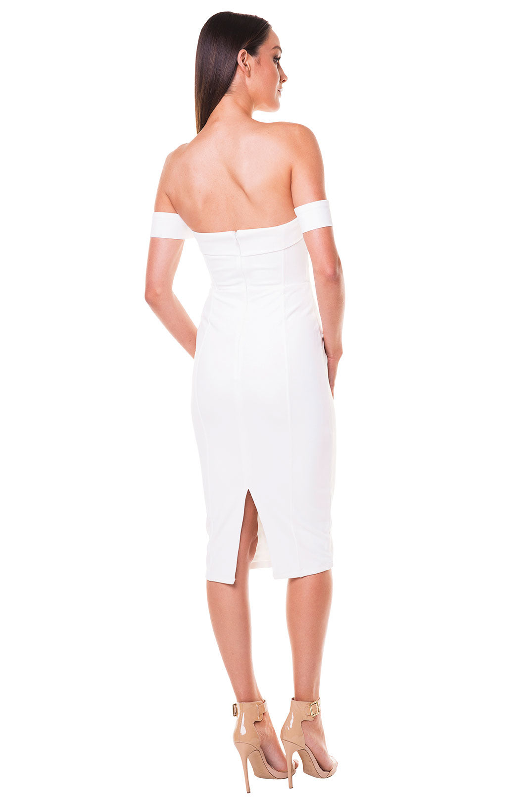 Cynthia Off-Shoulder Dress - White [SAMPLE SALE]