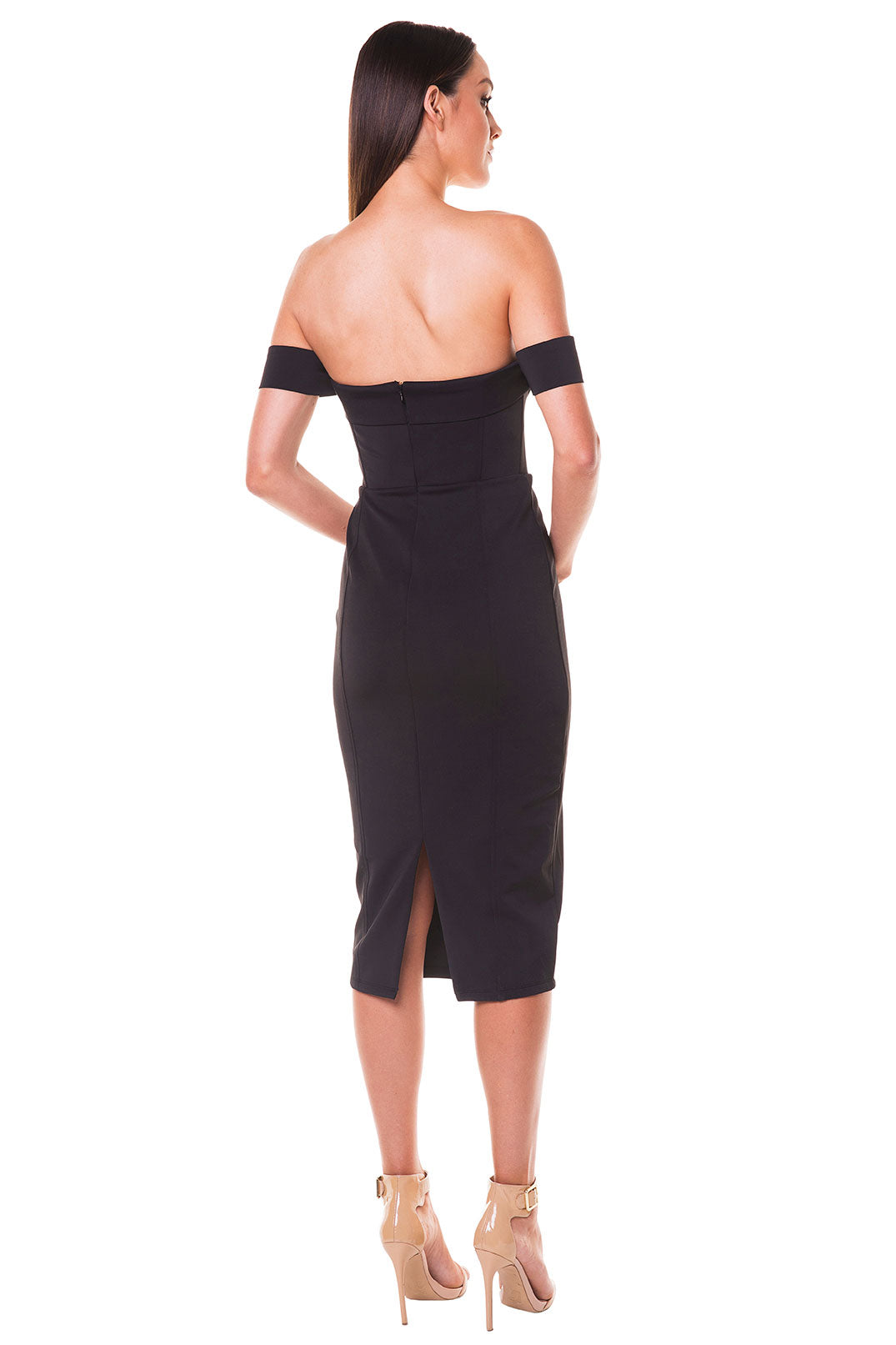 Cynthia Off-Shoulder Dress - Black [SAMPLE SALE]