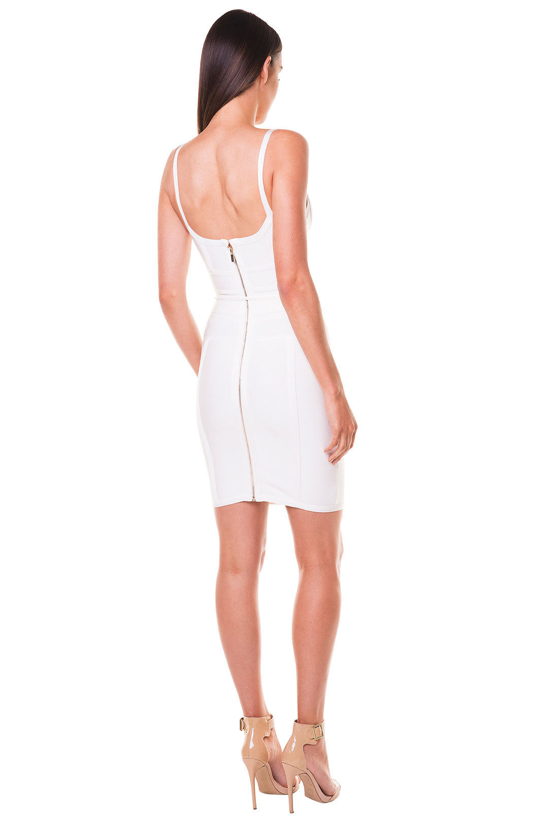 Eliza Bandage Dress - White [SAMPLE SALE]
