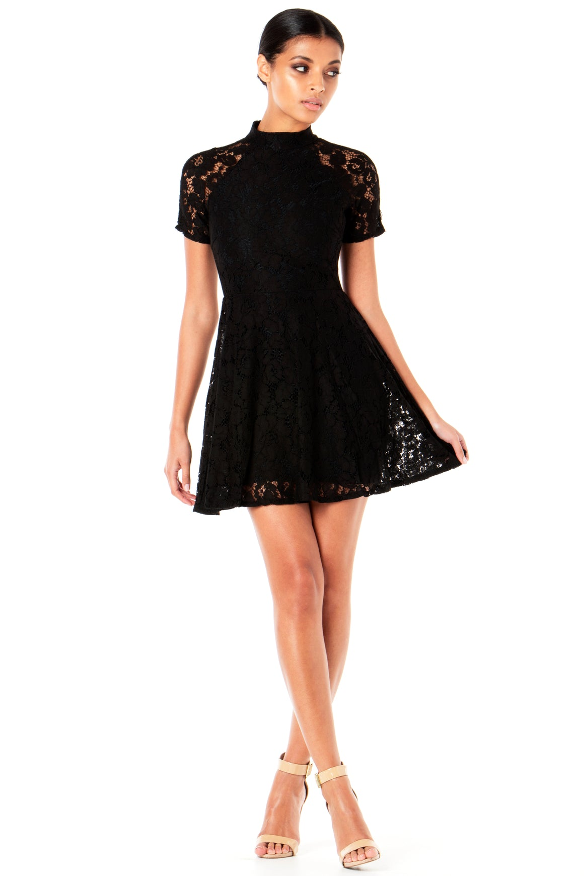 Willow Lace Dress - Black [SAMPLE SALE]