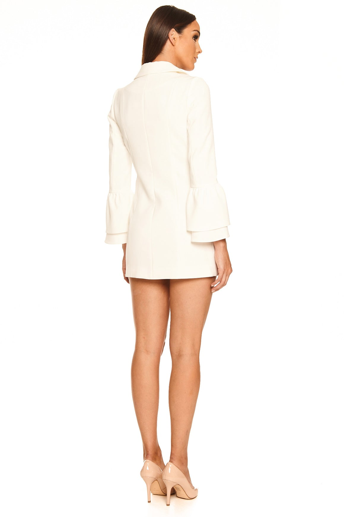 Melaina Blazer Dress - White [SAMPLE SALE]