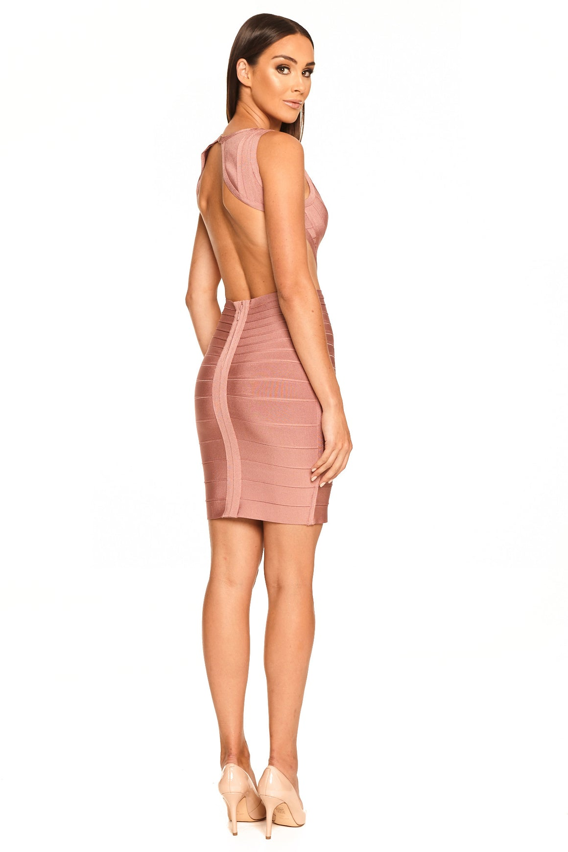 Kaylenne Cutout Bandage Dress