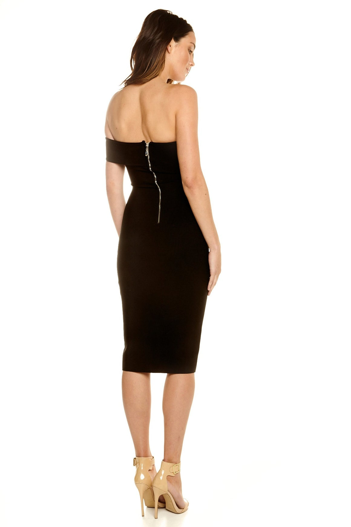 Tahne Off-Shoulder Bandage Dress - Black