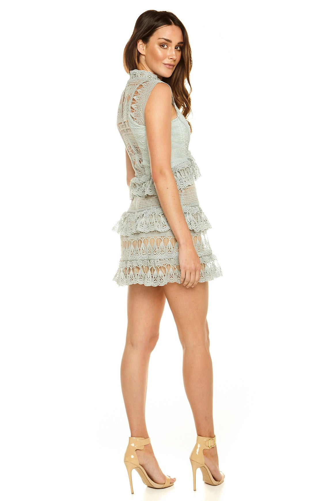 Gigi Lace Peplum Dress [SAMPLE SALE]