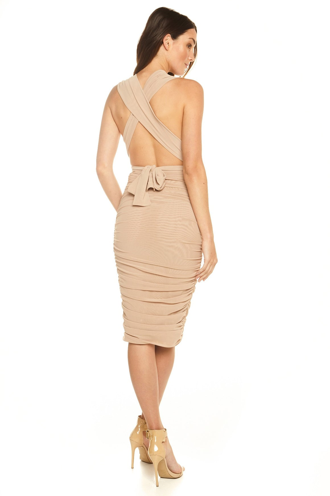 Dakota Multiway Mesh Dress - Nude