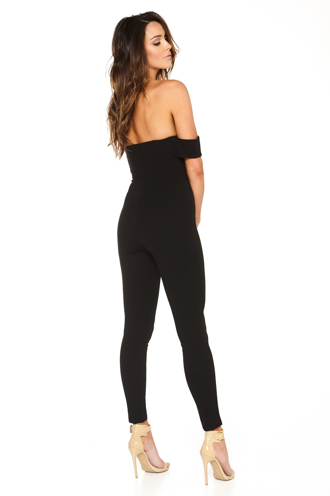 Cynthia Off-Shoulder Jumpsuit - Black [SAMPLE SALE]