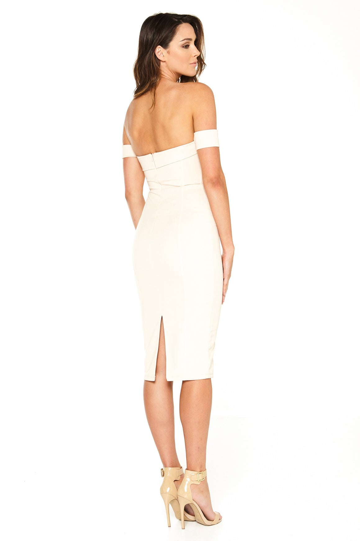 Cynthia Off-Shoulder Dress - Nude