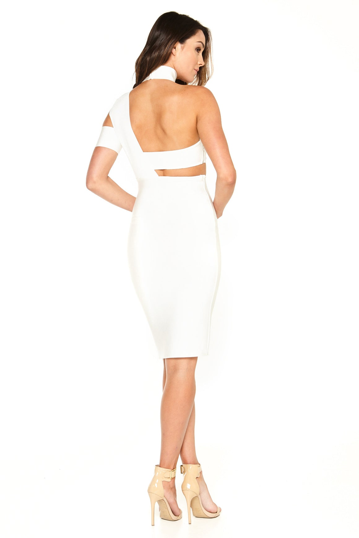 Ella Cutout Bandage Dress - White