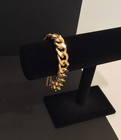 Thick Gold Chain Link Bracelet