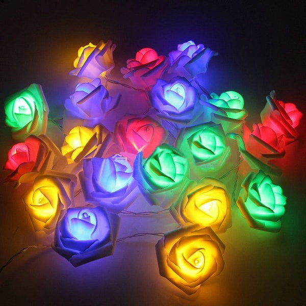 LED Rose Flower Strings