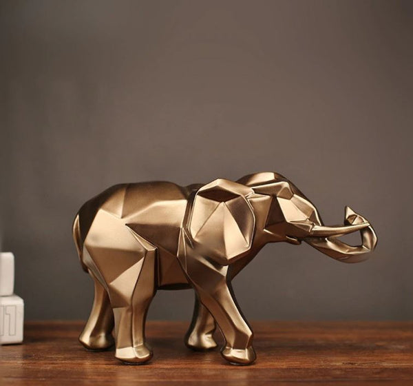 Abstract Golden Elephant