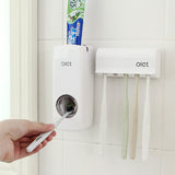 Toothpaste Dispenser with Toothbrush Holster