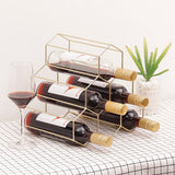 Gold Iron Nordic Wine Rack