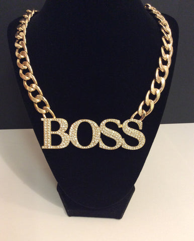 Crystal Lined Boss Necklace