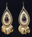 Filigree Teardrop Fringe Earrings