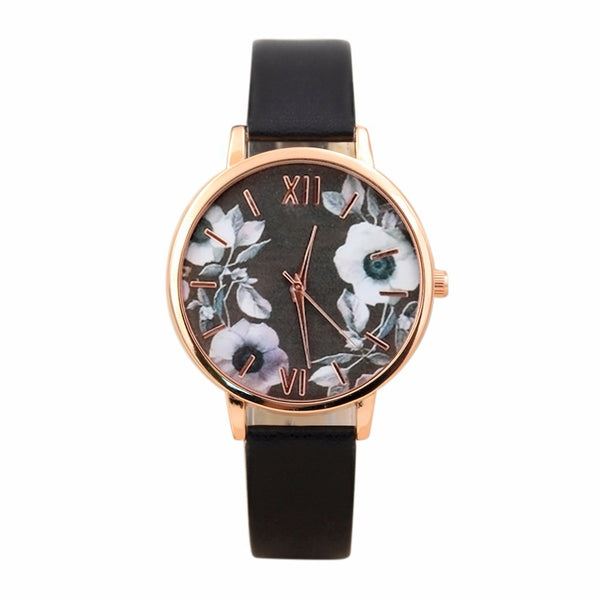 Elegant Floral Watch