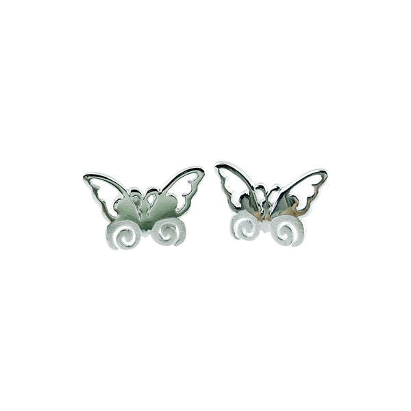 Sterling silver butterfly studs