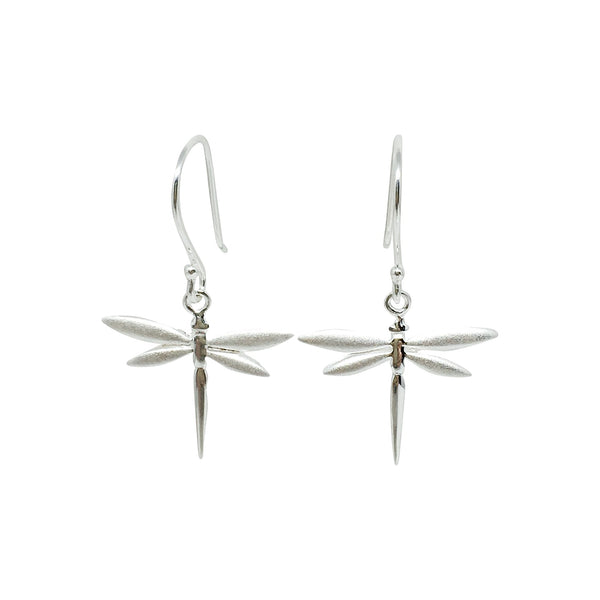 Sterling silver dragonfly earrings (medium)