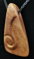 Kauri wedge carved necklace by Karla Herman