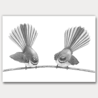 Fantail pair by Joanne Bowe