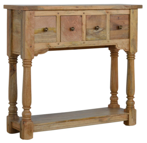 4 Drawer Granary Royale Console Table | Solid Wood Warehouse