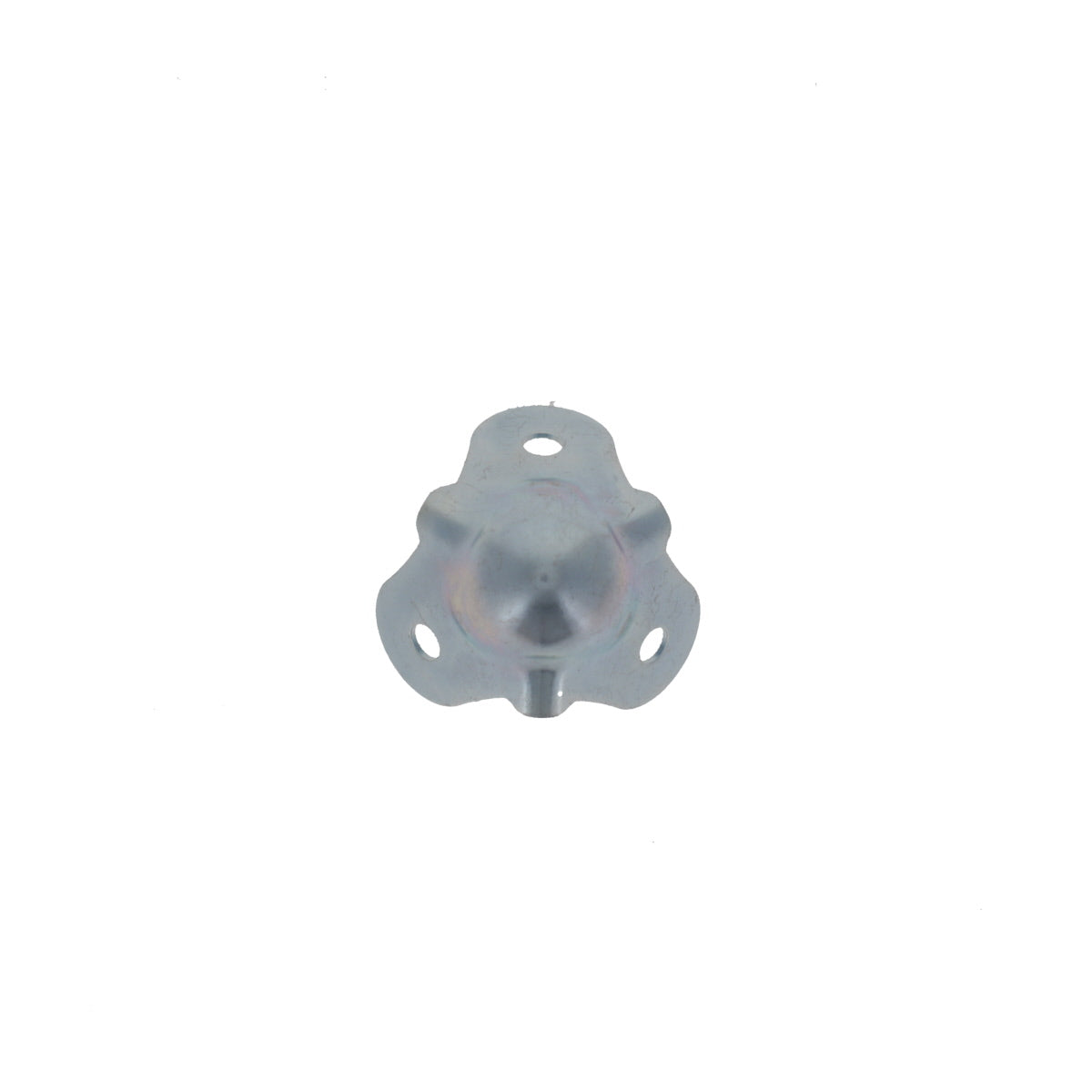 Small Light Duty Ball Corner - 20ga Steel Zinc Plated, Front View
