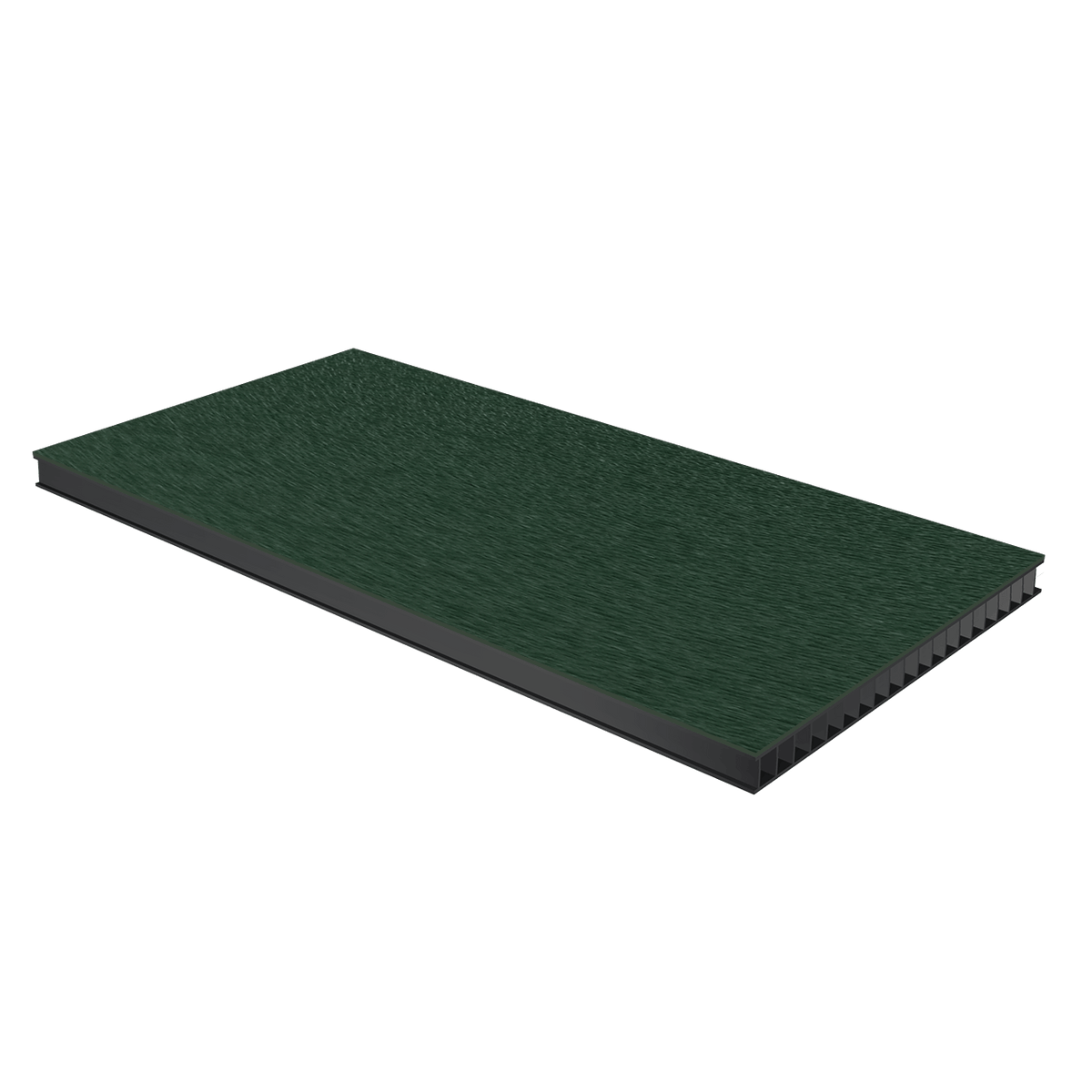 "3/8"" Corrugated Laminate - Forest Green"