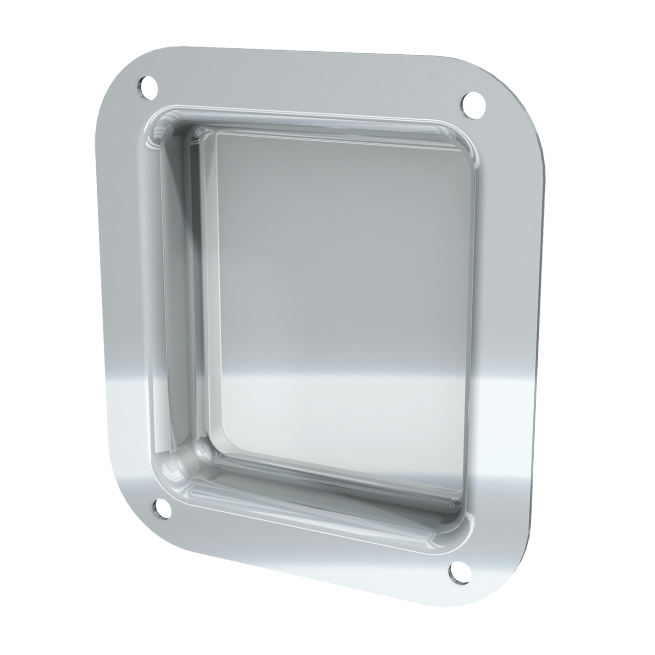 "4 x 4-1/2"" Recessed Dish, 3/4 view"
