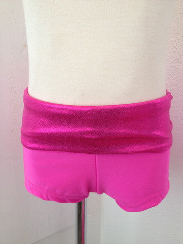 Details Signature Tie Shorts: Hot Pink