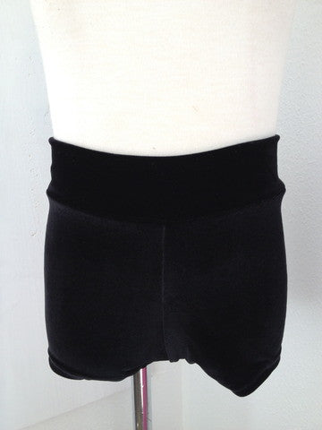 Details Basic Shorts: Black Velvet