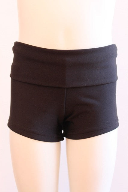 Details Signature Tie Shorts: Black Matte