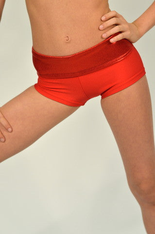 Details Signature Tie Shorts: Red