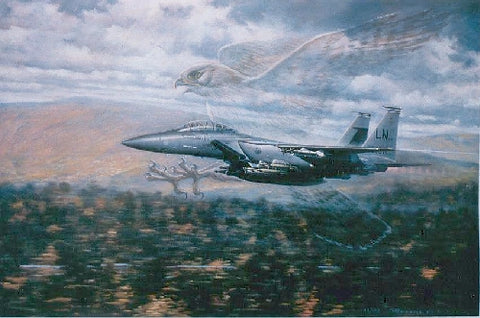 """Birds of Prey-F15 Eagles"" by Ronald Wong"