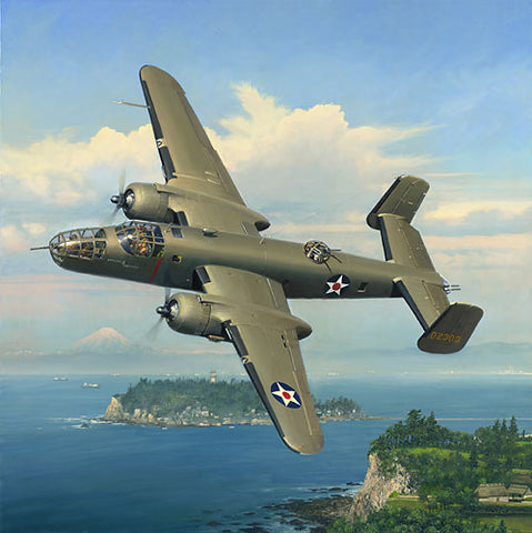 """Evasive Action Over Sagami Bay""  by William S. Phillips"