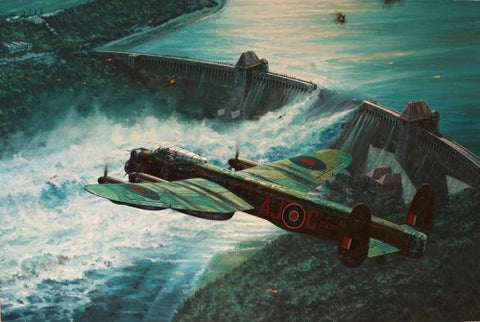 """Low Pass Over the Möhne Dam"" by Anthony Saunders"
