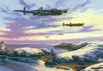 """Lancaster Over Kynance"" by Stephen Brown"