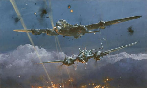 """Lancaster Under Attack"" Gicleé Canvas by Robert Taylor"