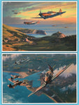 """The Merlin Chorus"" by Anthony Saunders Part of a Battle of Britain Portfolio"