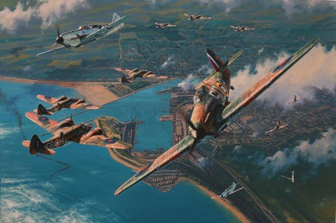 """Fear Nothing"" by Anthony Saunders Part of a Battle of Britain Portfolio"