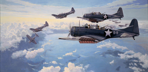 """First Hit at Midway"" by Paul Rendel"
